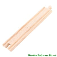 Bigjigs Wooden Railway Long Straight Track Single Piece