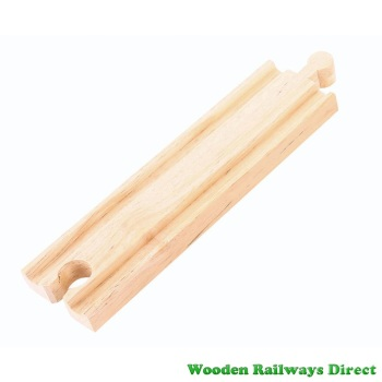 Bigjigs Wooden Railway Medium Straight Track Single Piece