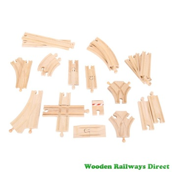 Bigjigs Wooden Railway Low Level Track Expansion Pack 25 Pieces