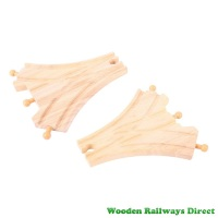 Bigjigs Wooden Railway Three Way Points Track