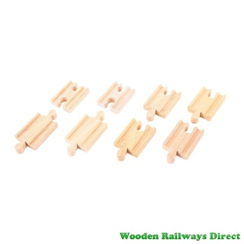 Bigjigs Wooden Railway Mini Straight Track