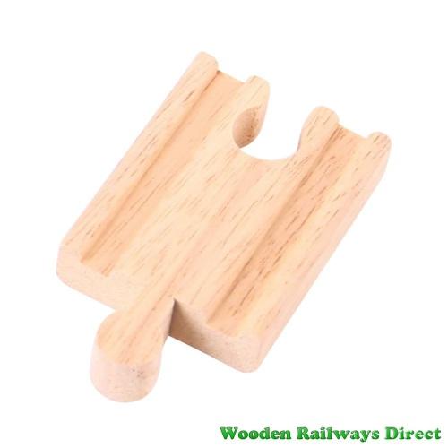 Bigjigs Wooden Railway Mini Single Track Male/Female Ends Single Piece