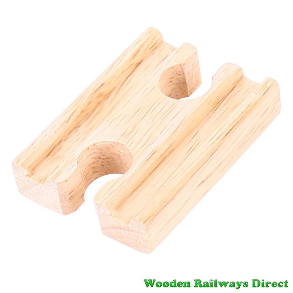 Bigjigs Wooden Railway Mini Single Track Female/Female Ends Single Piece