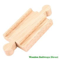 Bigjigs Wooden Railway Mini Single Track Male/Male Ends Single Piece