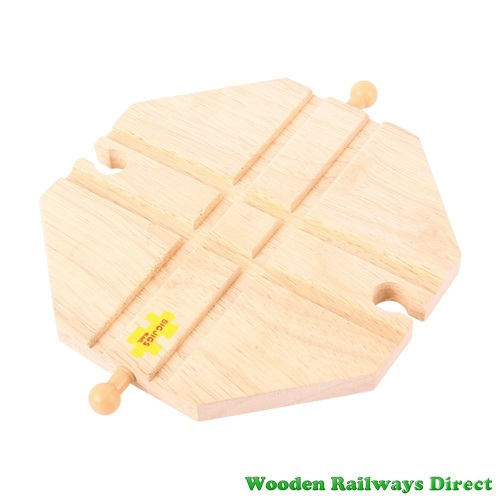 Bigjigs Wooden Railway Crossing Plate Track