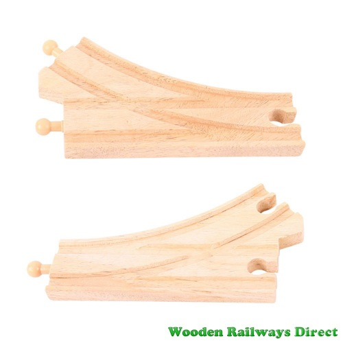 Bigjigs Wooden Railway Curved Points Track