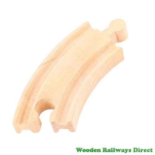 Bigjigs Wooden Railway Short Curve Track Single Piece