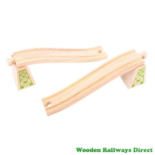 Bigjigs Wooden Railway Ascender and Descender Track