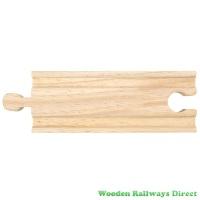 Bigjigs Wooden Railway Short Straight Track Single Piece
