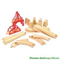 Bigjigs Wooden Railway Bridge Expansion Set
