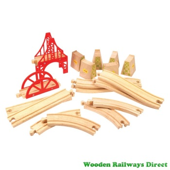 Bigjigs Wooden Railway Bridge Expansion Set