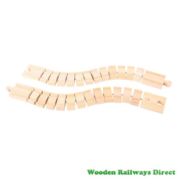 Bigjigs Wooden Railway Crazy Railway Track (Pack of 2)