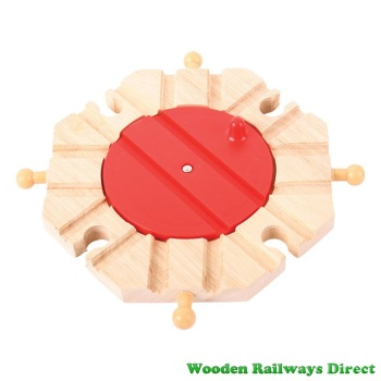 Bigjigs Wooden Railway Eight Way Turntable