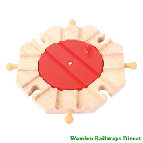Bigjigs Wooden Railway Eight Way Turntable