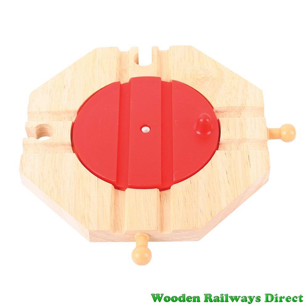 Bigjigs Wooden Railway Four Way Turntable