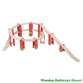 Bigjigs Wooden Railway High Level Track Extension Pack