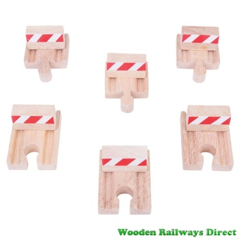 Bigjigs Wooden Railway Rail Buffer Set