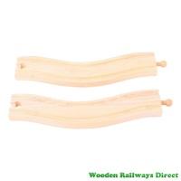Bigjigs Wooden Railway Wavy Train Track (Pack of 2)