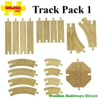 Bigjigs Wooden Railway Track Pack 1