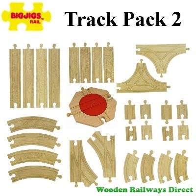 Bigjigs Wooden Railway Track Pack 2