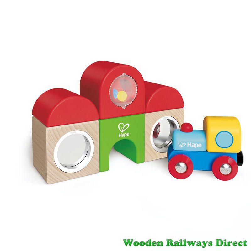 Hape Wooden Railway Station Building Block Set