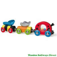 Hape Wooden Railway Lucky Ladybug and Friends Train