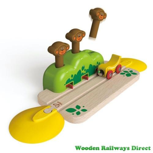Hape Wooden Railway Monkey Pop Up Track