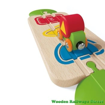 Hape Wooden Railway Colour and Shape Sorting Track