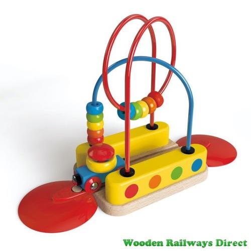 Hape Wooden Railway Bead Maze Rainbow Track