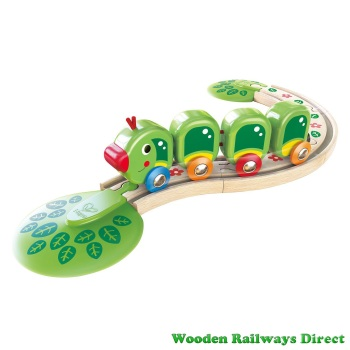 Hape Wooden Railway Caterpillar Train Set