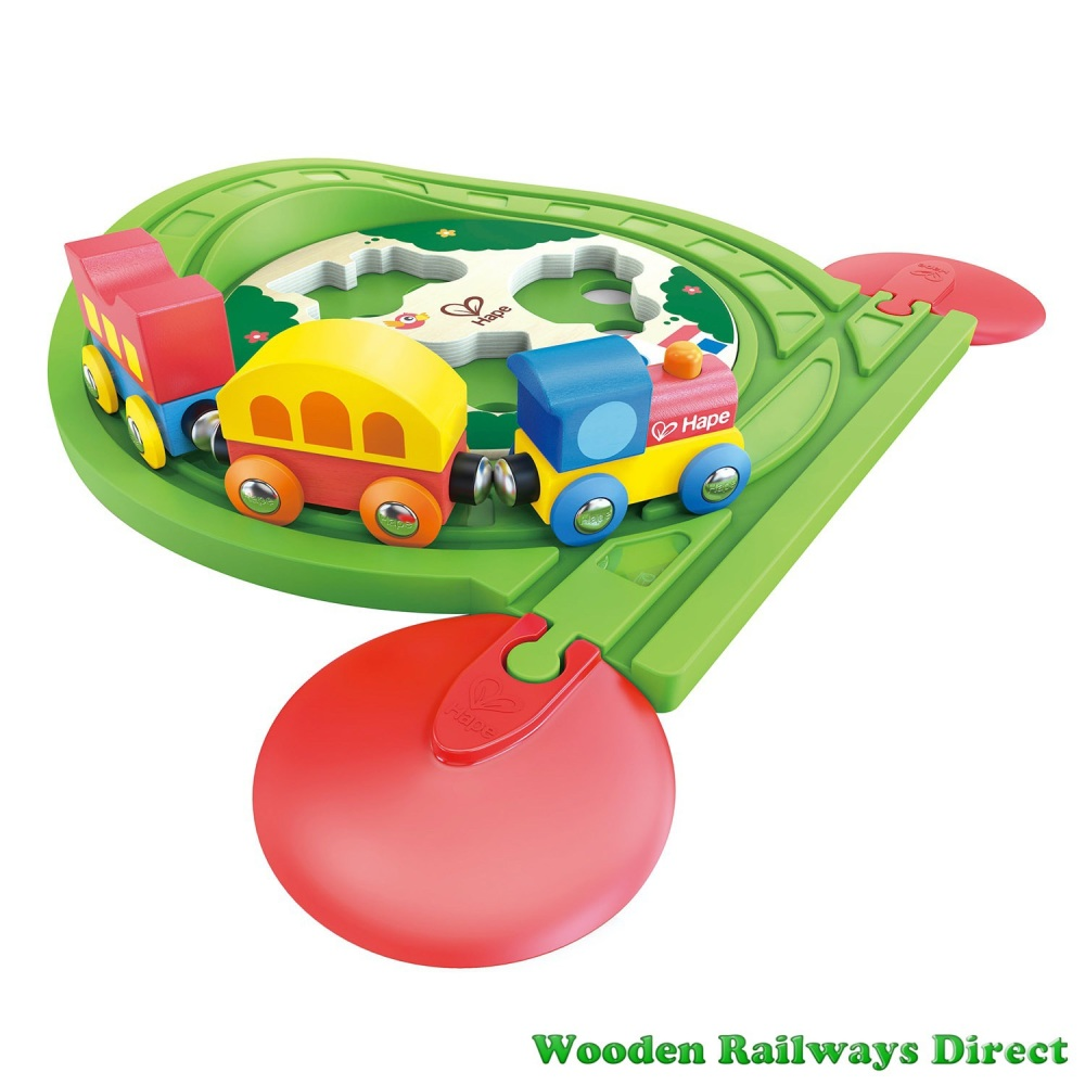 Hape Wooden Railway Train Track Puzzle