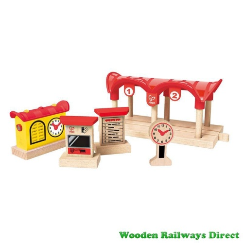 Hape Wooden Railway Record, Listen and Light Railway Station