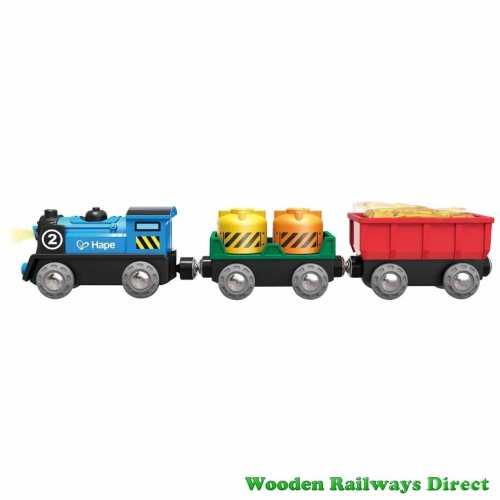 Hape Wooden Railway Battery Powered Rolling Stock Set