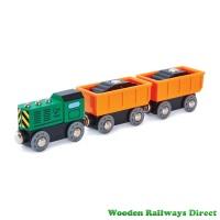 Hape Wooden Railway Diesel Freight Train