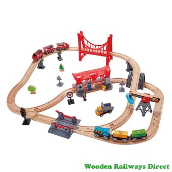Hape Wooden Railway Busy City Rail Set