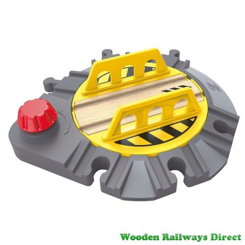 Hape Wooden Railway Adjustable Rail Turntable