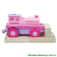Bigjigs Railway Fairy Pink Battery Steam Engine