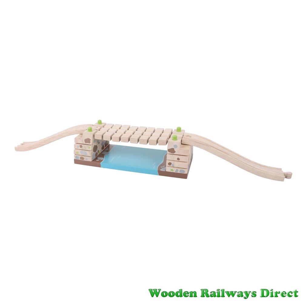 Bigjigs Wooden Railway Clickety Clack Railway Bridge
