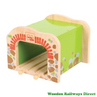Bigjigs Wooden Railway Double Railway Tunnel