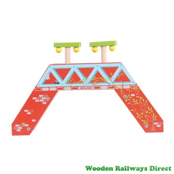 Bigjigs Wooden Railway Passenger Footbridge
