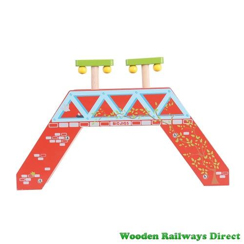 Bigjigs Wooden Railway Passenger Footbridge