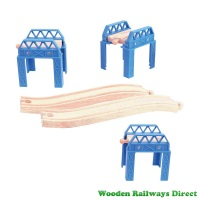 Bigjigs Wooden Railway Construction Support Set