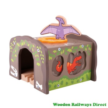 Bigjigs Wooden Railway Dinosaur T-Rex Tunnel