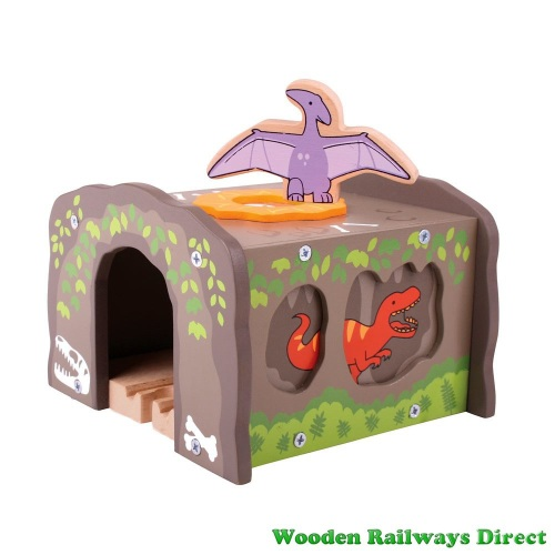 Bigjigs Wooden Railway Dinosaur T-Rex Tunnel