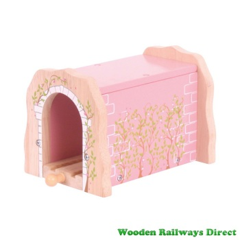 Bigjigs Wooden Railway Fairy Pink Brick Tunnel