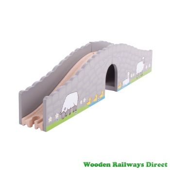 Bigjigs Wooden Railway Farm Bridge