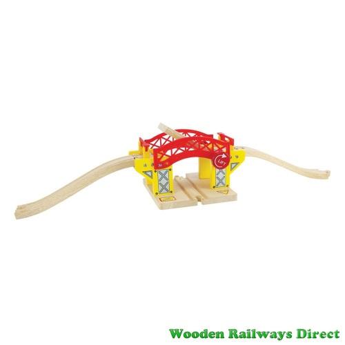 Bigjigs Wooden Railway Lifting Bridge