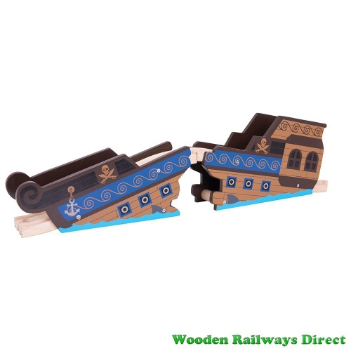 Bigjigs Wooden Railway Pirate Shipwreck Bridge