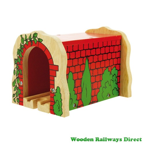 Bigjigs Wooden Railway Red Brick Tunnel