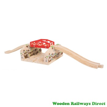 Bigjigs Wooden Roadway Cutting Bridge